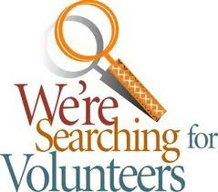 Clipart Of Magnifying Glass & Searching For Volunteers